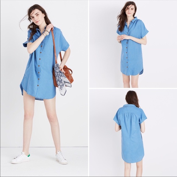 7f0e08bd49 Madewell Dresses   Skirts - Madewell Indigo Central Linen Shirt Dress